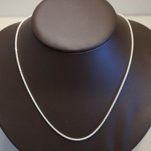 "Sterling Silver (.925) 18"" Popcorn Link Chain"